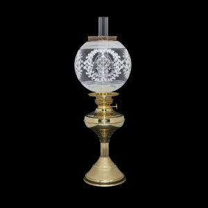 globe oil lamp shade with regency style table lamp