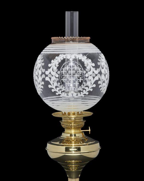 globe oil lamp shade