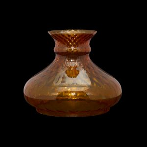 Cognac Diamond Optic Vesta oil lamp Shade