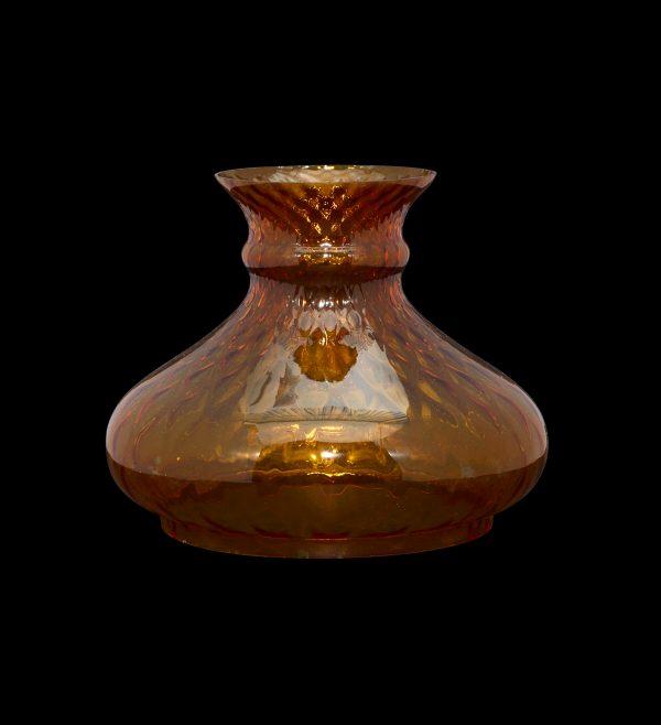 Cognac Diamond Optic Vesta oil lamp Shade